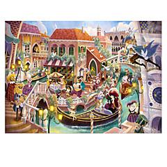 Legpuzzel Speeltjes Kasteel Beroemd gebouw Huis Architectuur Cartoon Unisex Stuks