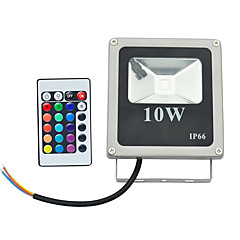 billige Udendørsbelysning-800 lm LED-projektører 1 leds Højeffekts-LED Fjernstyret RGB 85-265V