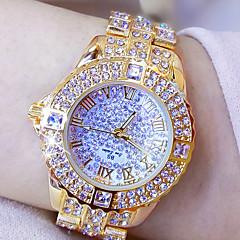 preiswerte Tolle Angebote auf Uhren-Damen Armbanduhr Chinesisch Chronograph / Wasserdicht / Kreativ Legierung Band Charme / Luxus / Freizeit Silber / Gold / Edelstahl / Imitation Diamant / Ein Jahr / Xingguang 377