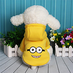 Dog Sweatshirt Dog Clothes Warm Casual/Daily Cartoon Purple Yellow Red Blue Costume For Pets