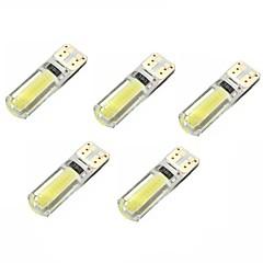 2w dc12v wit t10 2cob canbus decoratieve lamp leeslampje kenteken lampje deurlamp 5pcs