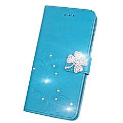 Недорогие Чехлы и кейсы для Huawei серии Y-Кейс для Назначение Huawei Honor V9 / Honor 7X Стразы / Флип / Рельефный Чехол Мандала / Бабочка Твердый Кожа PU для Honor 9 / Honor 8 / Honor 7X