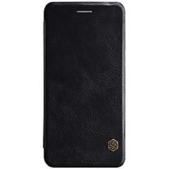 お買い得  その他のケース-ケース 用途 OnePlus カードホルダー フリップ オートスリープ/ウェイクアップ フルボディーケース 純色 ハード PUレザー のために One Plus 5
