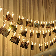 3M 20 LED Photo Clip Fairy String Lights Battery Powered for Pretty Photo Artwork Hanging Pictures Christmas Party Indoor Decoration