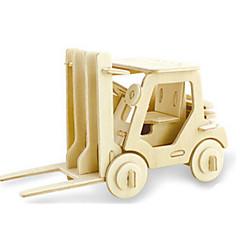 preiswerte -3D - Puzzle Holzpuzzle Holzmodelle Dinosaurier Flugzeug Gabelstapler 3D Heimwerken Hölzern Holz Klassisch Gabelstapler Unisex Geschenk