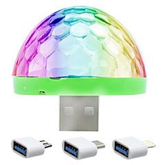 lampa uxlight® ywxlight® 5w lampa usb oświetlenie sceniczne lampa dj led kolorowa kolorowa kulka mini disco kontrola dźwięku