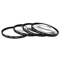 Andoer 72mm close-up lente macro conjunto de filtros (1 2 4 10) con accesorios para lentes