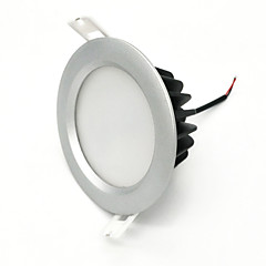 cheap Indoor Lights-ZDM 1PC 7W Waterproof IP65 600-650LM Silver Round LED Downlight Ceiling light Semi outdoor Cold White/Warm White/Naturally White AC85-265V AC12V