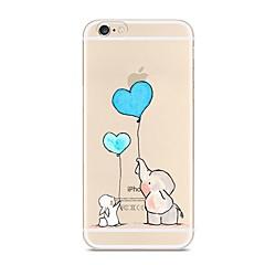 abordables Accesorios para Apple-Funda Para Apple iPhone X / iPhone 8 Transparente / Diseños Funda Trasera Elefante Suave TPU para iPhone X / iPhone 8 Plus / iPhone 8