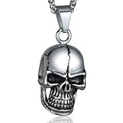 Nyaklánc medálok Skull shape Titanium Acél Divat Személyre szabott Ékszerek Kompatibilitás Halloween Hétköznapi Karácsonyi ajándékok