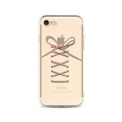 お買い得  iPhone 5S/SE ケース-ケース 用途 Apple iPhone X iPhone 8 Plus クリア パターン バックカバー Appleロゴアイデアデザイン ソフト TPU のために iPhone X iPhone 8 Plus iPhone 8 iPhone 7 Plus iPhone 7