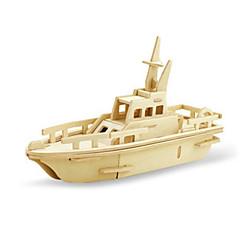 ieftine -Puzzle 3D Puzzle Modele de Lemn Dinosaur Aeronavă Navă 3D Reparații De lemn Lemn Clasic Unisex Cadou