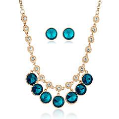 Жен. Заявление ожерелья Ожерелье / серьги Кристалл В виде подвески Мода бижутерия Металлический сплав Стразы Сплав Геометрической формы