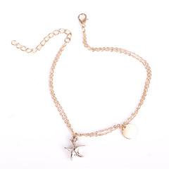 Kadın's Ayak bileziği/Bilezikler Ferroalloy Bakır Moda Star Shape Mücevher Uyumluluk Günlük Odzież turystyczna Dışarı Çıkma