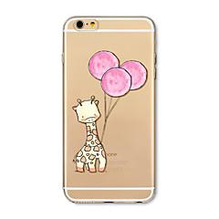 Obudowa dla telefonu iphone 7 plus 7 pokrywka przezroczysta obudowa tylna obudowa cartoon deer balon soft tpu dla iphone 6s plus 6 plus 6s