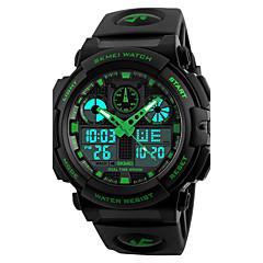 SKMEI Herrn Sportuhr Militäruhr Modeuhr Armbanduhr Digitaluhr Japanisch Quartz LED Kalender Chronograph Wasserdicht Duale Zeitzonen Alarm