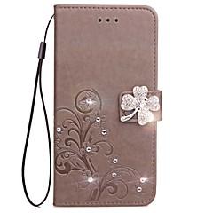 Недорогие Кейсы для Huawei других серий-Кейс для Назначение Huawei Honor 7 / Huawei P9 / Huawei P9 Lite Кошелек / Бумажник для карт / Стразы Чехол Однотонный Твердый Кожа PU для P10 Plus / P10 Lite / P10 / Huawei P9 Plus / Mate 9 Pro