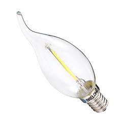 お買い得  LED 電球-BRELONG® 1個 2W 200lm E14 フィラメントタイプLED電球 C35 2 LEDビーズ COB 調光可能 温白色 ホワイト 220-240V