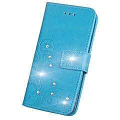 olcso iPhone tokok-Case Kompatibilitás Apple iPhone X iPhone X iPhone 8 iPhone 8 Plus Kártyatartó Pénztárca Strassz Állvánnyal Flip Mágneses Minta