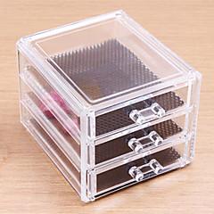 化粧品箱 Others メイク用品収納 ゼブラプリント 四辺形 アクリル ビスク
