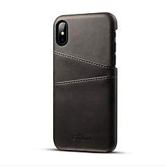 abordables Novedades-Funda Para Apple iPhone X / iPhone 8 / iPhone 8 Plus Soporte de Coche / Ultrafina Funda Trasera Un Color Dura Cuero de PU para iPhone XS / iPhone XR / iPhone XS Max