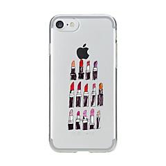 Назначение iPhone 7 iPhone 7 Plus Чехлы панели Прозрачный С узором Задняя крышка Кейс для Соблазнительная девушка Мягкий Термопластик для