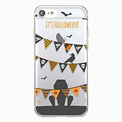 For iphone 7plus case deksel transparent mønster bakside deksel geometrisk mønster halloween flagg mykt tpu for iphone 7 6splus 6plus 6s 6