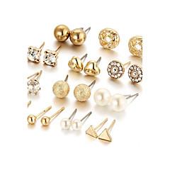preiswerte Ohrringe-Damen Kristall Ohrstecker - Krystall, Künstliche Perle Herz Modisch, Elegant, Bling Bling Gold / Silber Für Alltag / Normal / Party