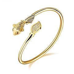 preiswerte Armbänder-Damen Kubikzirkonia Manschetten-Armbänder - Zirkon, vergoldet, Rose Gold überzogen Tier Luxus, Grundlegend, Modisch Armbänder Gold Für Weihnachten Hochzeit Party