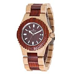 お買い得  レディース腕時計-女性用 リストウォッチ 日本産 クォーツ 木製 ウッド バンド ハンズ チャーム ぜいたく エレガント レッド / アイボリー - コーヒー
