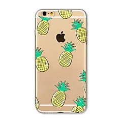 Case for iphone 7 plus 7 kattaa läpinäkyvä kuvio takakannen tapauksessa hedelmä laatta ananas pehmeä tpu apple iphone 6s plus 6 plus 6s 6