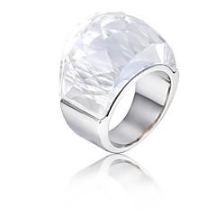 preiswerte Ringe-Damen Edelstahl Bandring - Modisch Weiß Ring Für Party / Geburtstag / Geschenk
