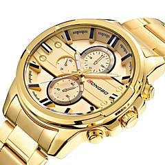 voordelige Herenhorloges-LONGBO Heren Sporthorloge Modieus horloge Unieke creatieve horloge Vrijetijdshorloge Horloge Hout Polshorloge Kwarts Roestvrij staal Band