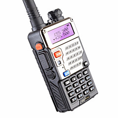 voordelige Walkie Talkie-baofeng uv-5re uhf vhf walkie talkie 5w 128ch tweewegs radio voor het jagen op dual display