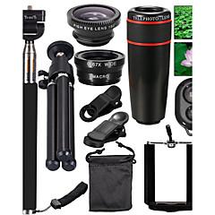 lente de los teléfonos móviles 10 en 1 kit de la lente para el smartphone para el iphone 8 7 samsung galaxia s8 s7