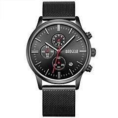 preiswerte Tolle Angebote auf Uhren-Herrn Quartz Armbanduhr Japanisch Kalender Wasserdicht Großes Ziffernblatt Edelstahl Band Charme Luxus Retro Kreativ Freizeit Böhmische