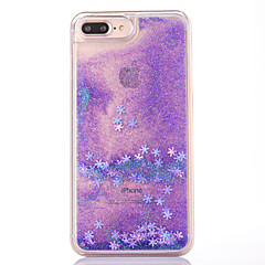 Case voor iphone 7 plus 7 case cover sneeuwvlok patroon vloeiende vloeibare glitter pc materia telefoon case 6s plus 6plus 6s 6 se 5s 5