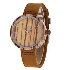 お買い得  レディース腕時計-Redear 女性用 リストウォッチ 日本産 クォーツ 木製 本革 バンド ハンズ チャーム カジュアル ファッション ブラウン - コーヒー