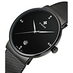 preiswerte Herrenuhren-WWOOR Herrn Quartz Armbanduhr Kalender Legierung Band Luxus Kleideruhr Modisch Mehrfarbig