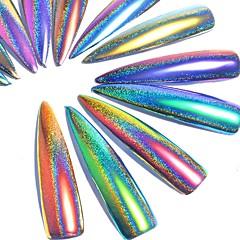 3g / pudełko fioletowy fioletowy gwiaździsty holograficzny laserowy proszek holo paznokci proszek błyszczący