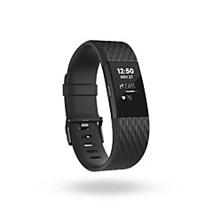 Replacement Bands for Fitbit Charge 2 Wepro Fitbit Charge 2 Bands Accessory with Metal Clasp-black