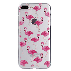 Para iPhone X iPhone 8 Carcasa Funda Transparente Diseños Cubierta Trasera Funda Flamenco Suave TPU para Apple iPhone X iPhone 8 Plus