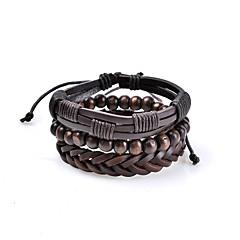 Heren Lederen armbanden Sieraden Basisontwerp Vintage Bohemia Style Verstelbaar Rock leuke Style Met de hand gemaakt Kostuum juwelen Leder