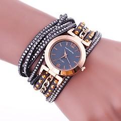 billige Dame Ure-Dame Modeur Armbåndsur Unik Creative Watch Simuleret Diamant Ur Kinesisk Quartz Imiteret Diamant PU Bånd Vedhæng Afslappet Elegant Sort