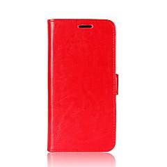Недорогие Чехлы и кейсы для HTC-Кейс для Назначение HTC U11 Life U11 Бумажник для карт Кошелек со стендом Флип Магнитный Чехол Сплошной цвет Мягкий Кожа PU для HTC U11