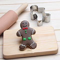 voordelige Bakgerei & Gadgets-Bakvormen gereedschappen Roestvast staal Kinderen / Baking Tool / Creative Kitchen Gadget Brood / Koekje / Taart cartoon Shaped / Dier Cookie Tools 1pc