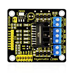 voordelige -Keyestudio nieuwe l298n schild dual h brug dc stepper drive controller board module voor arduino slimme auto robot