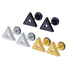 Pentru femei Bărbați Cercei Stud stil minimalist Stil Punk Personalizat Stâncă Hipoalergenic Teak Triangle Shape Bijuterii PentruCasual