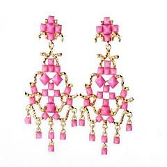 お買い得  イヤリング-女性用 タッセル クリップイヤリング  -  オリジナル, タッセル, ファッション ピンク 用途 パーティー 祝日 お出かけ / 特大の