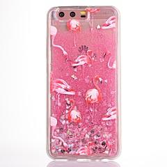 Etui til huawei p10 p10 plus etui cover flamingo mønster tpu materiale drop flash pulver flow sand mobil taske til huawei ære v9